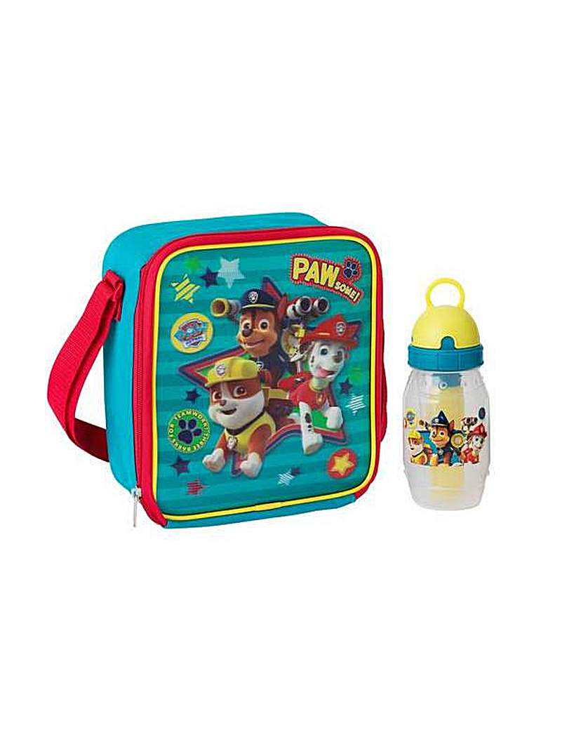 Image of Paw Patrol Lunch Bag and Bottle.