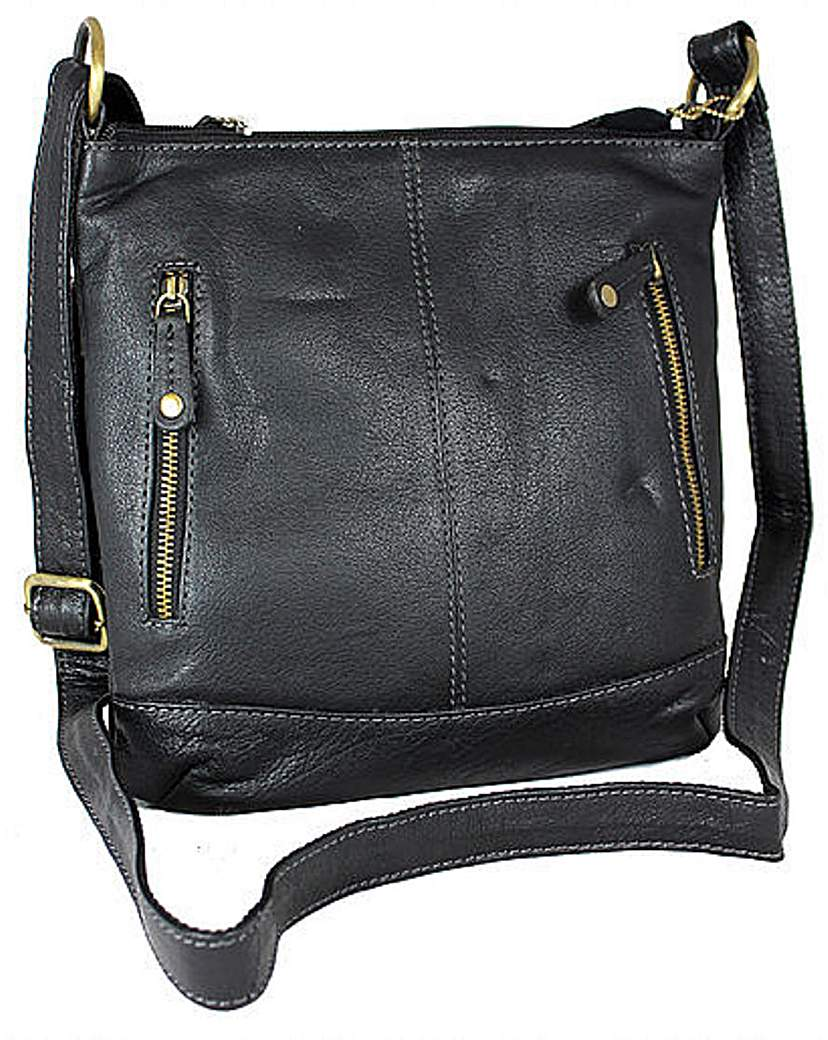 Image of Blousey Brown Leather Shoulderbag