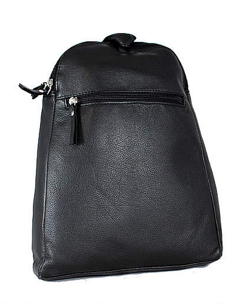 Image of Blousey Brown Leather Backpack