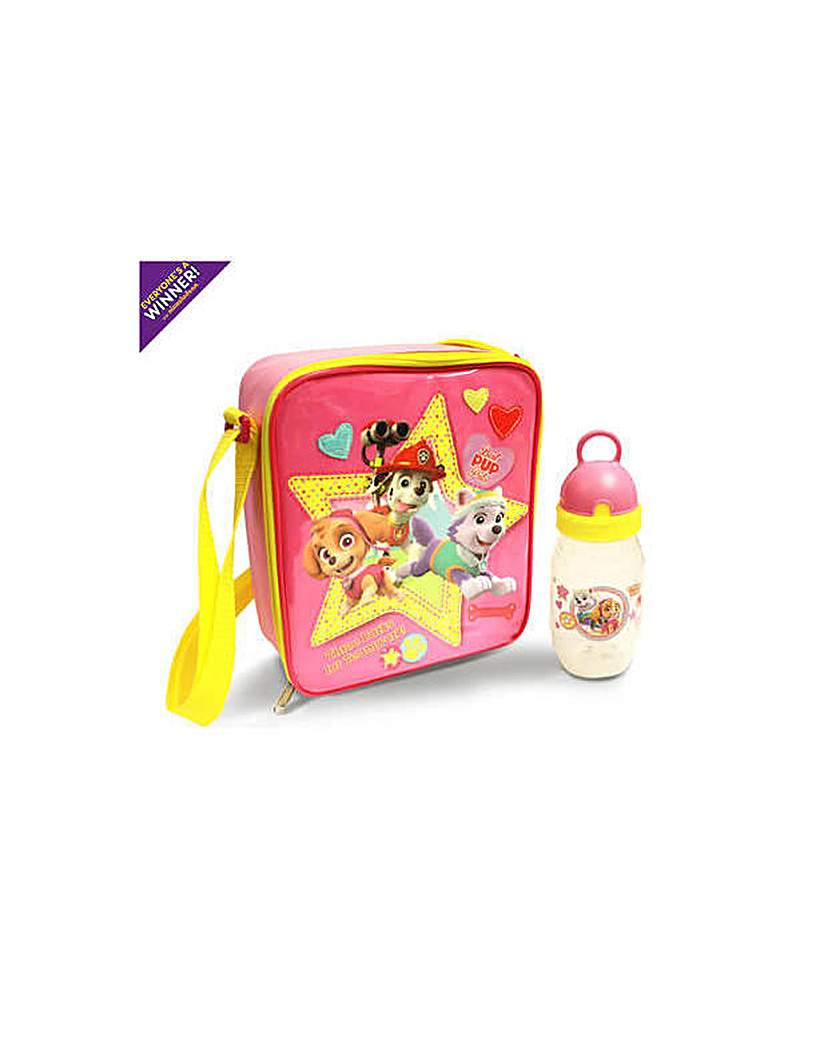 Image of Paw Patrol Skye Lunch Bag and Bottle Set