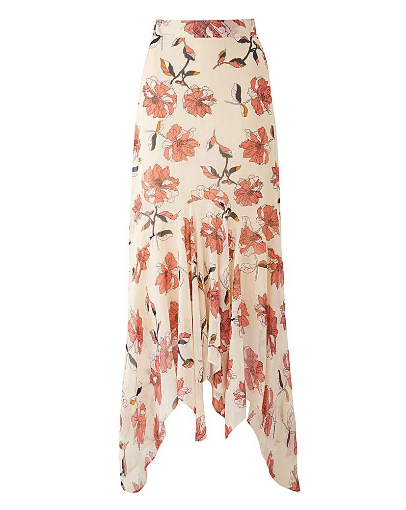 Retro Skirts: Vintage, Pencil, Circle, & Plus Sizes Joanna Hope Print Layered Skirt £45.00 AT vintagedancer.com