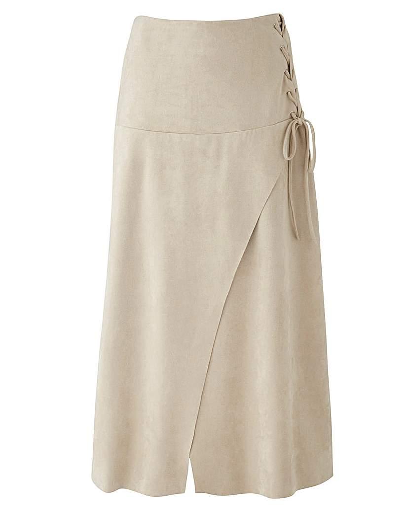 Joanna Hope Mock Suede Skirt.