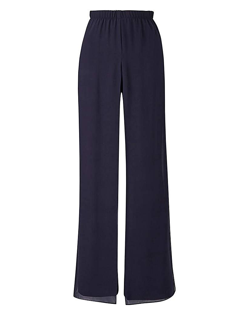 Did Women Wear Pants in the 1920s? Yes! sort of… Joanna Hope Overlay Palazzo Trousers £45.00 AT vintagedancer.com