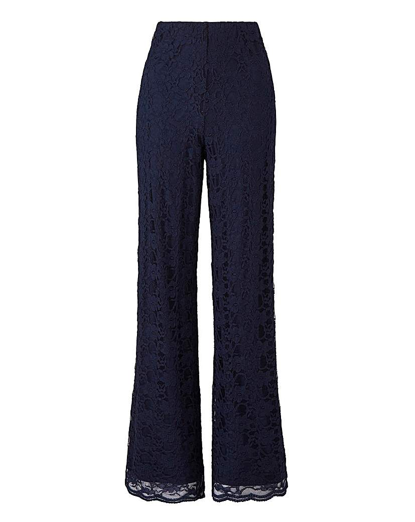 Joanna Hope Lace Wide Leg Trousers 28in.