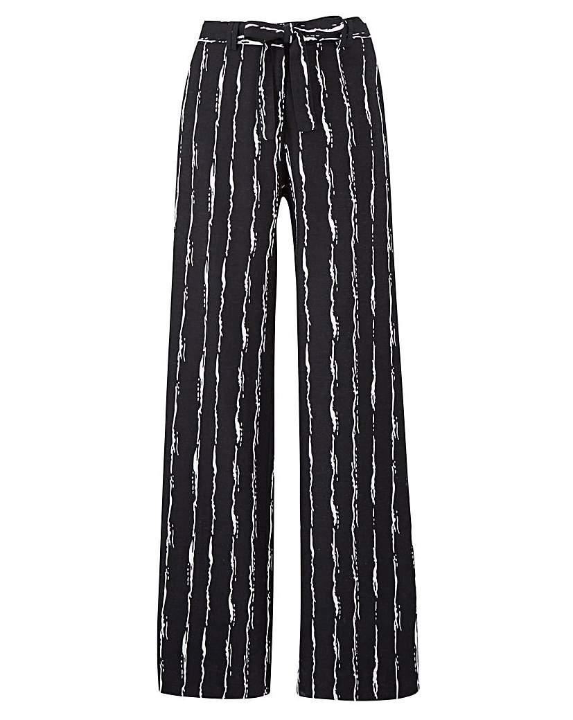 Joanna Hope Stripe Linen Blend Trousers