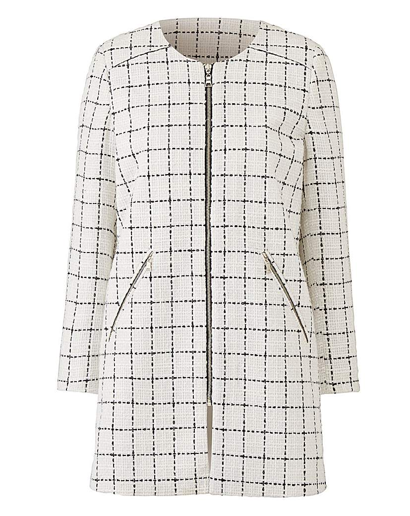 Joanna Hope Check Jacket