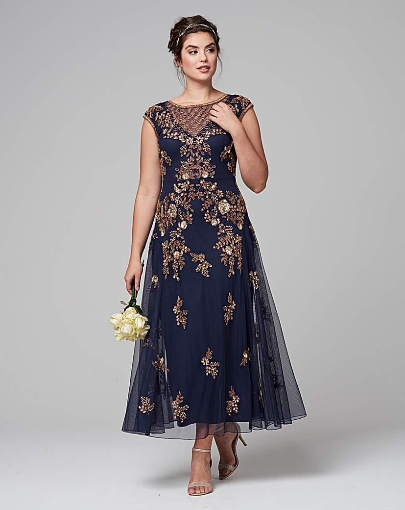 1950s Style Cocktail Dresses & Gowns JOANNA HOPE Embellished Maxi Dress £165.00 AT vintagedancer.com