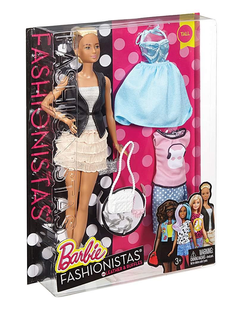 Image of Barbie Fashionista Leather & Ruffles Dol