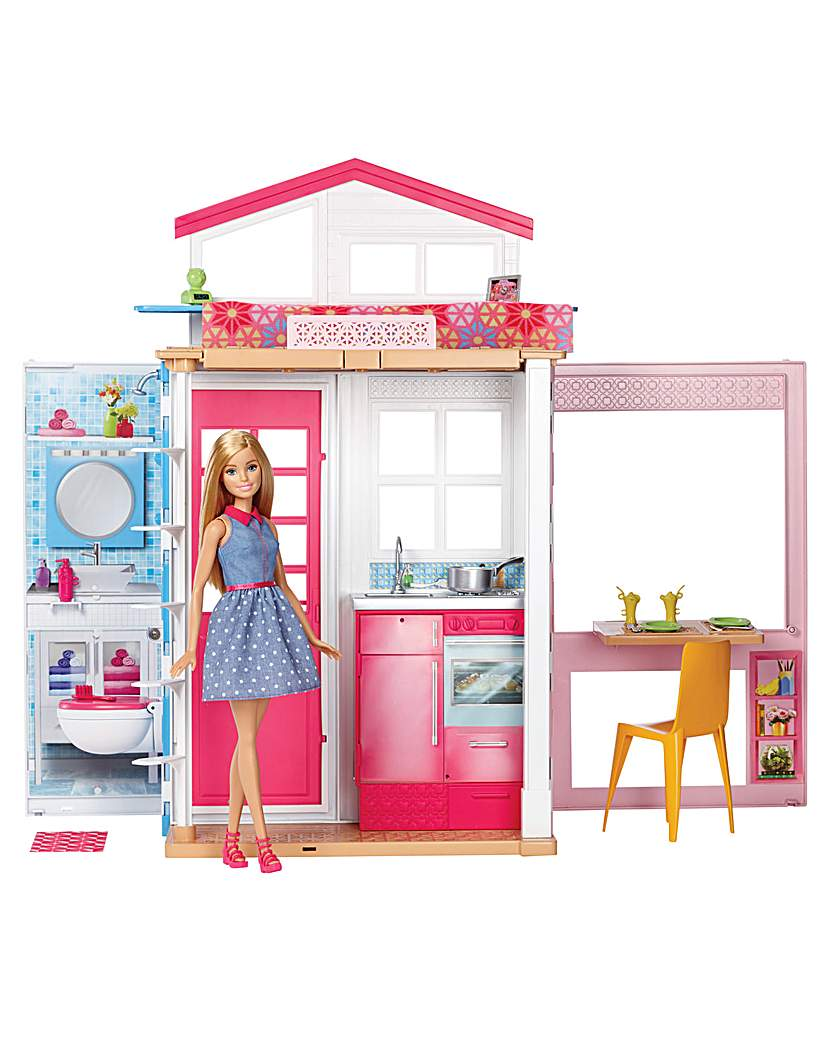 Image of Barbie House & Doll
