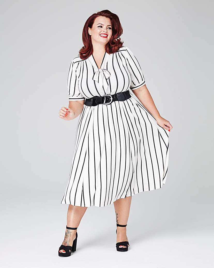 Scarlett  Jo Stripe Dress £55.00 AT vintagedancer.com