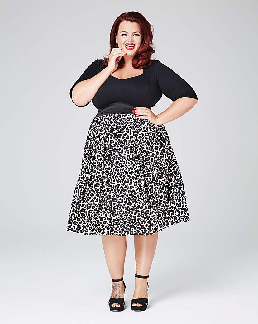 Scarlett  Jo Leopard Twofor Dress £65.00 AT vintagedancer.com