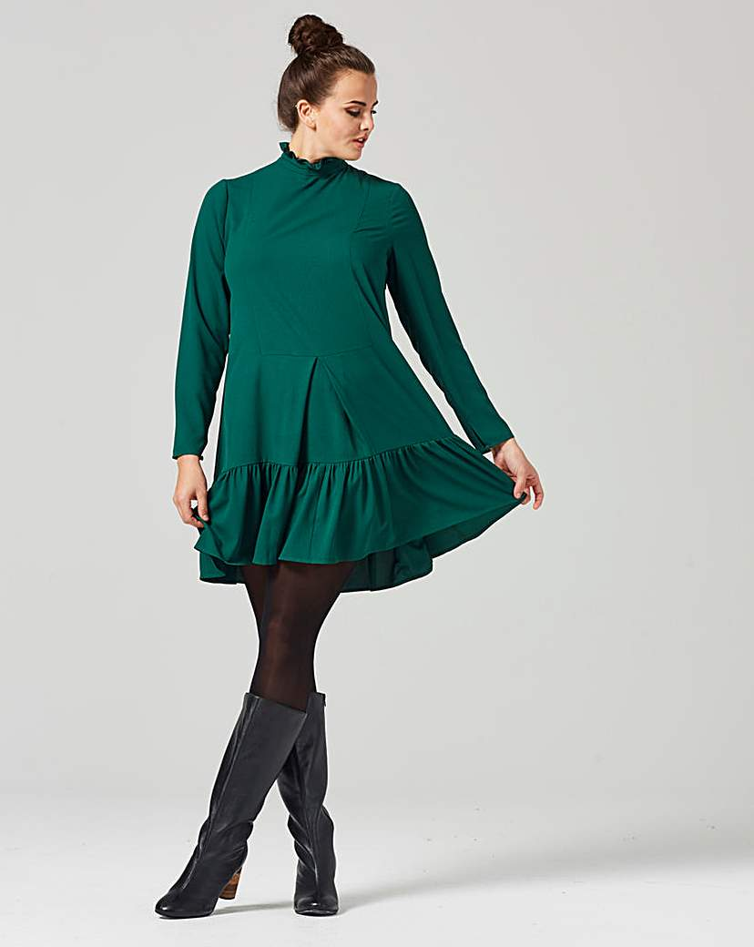 Traffic People Green Smock Dress