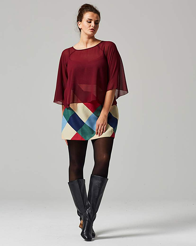 Traffic People Fluted Blouse