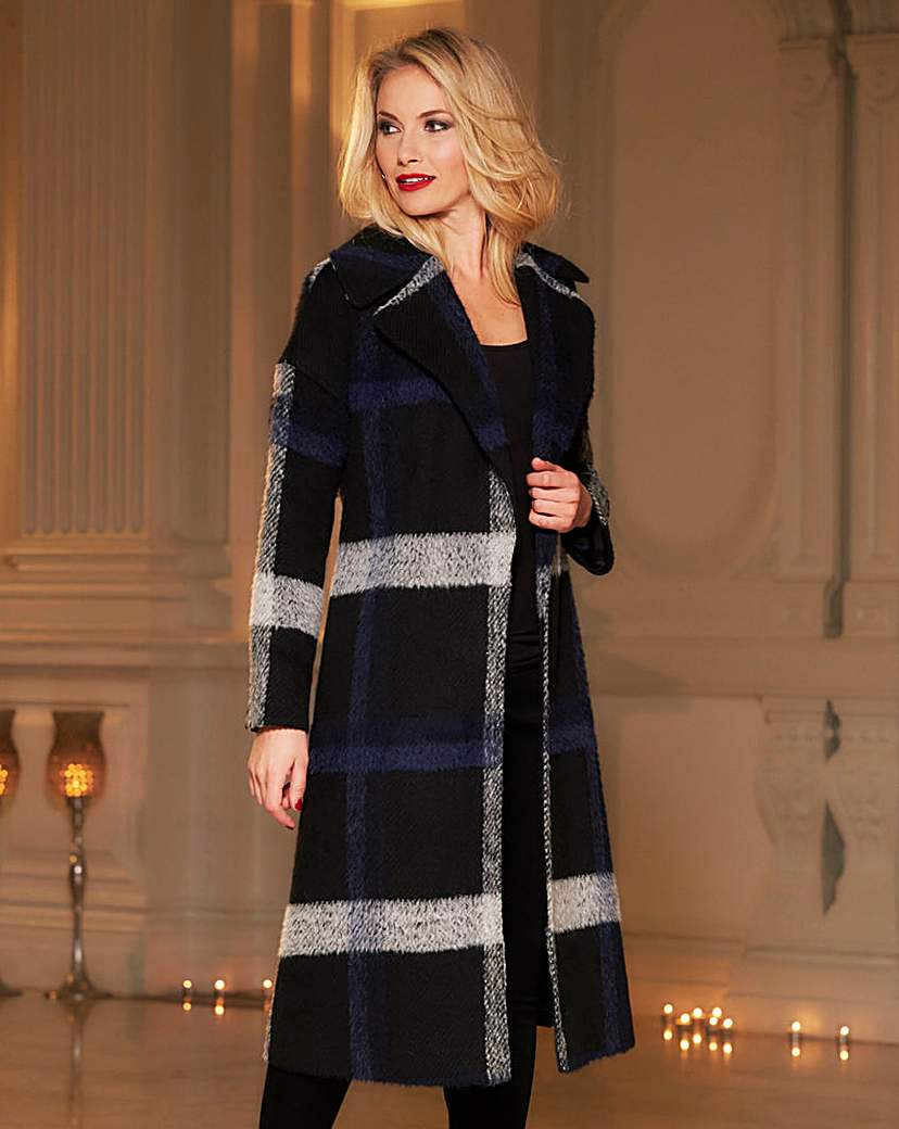 1930s Style Coats Helene Berman Large Plaid Thrown On Coat £159.00 AT vintagedancer.com
