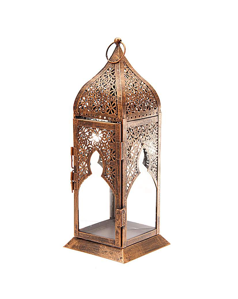 Image of Tall Glass Moroccan Style Lantern