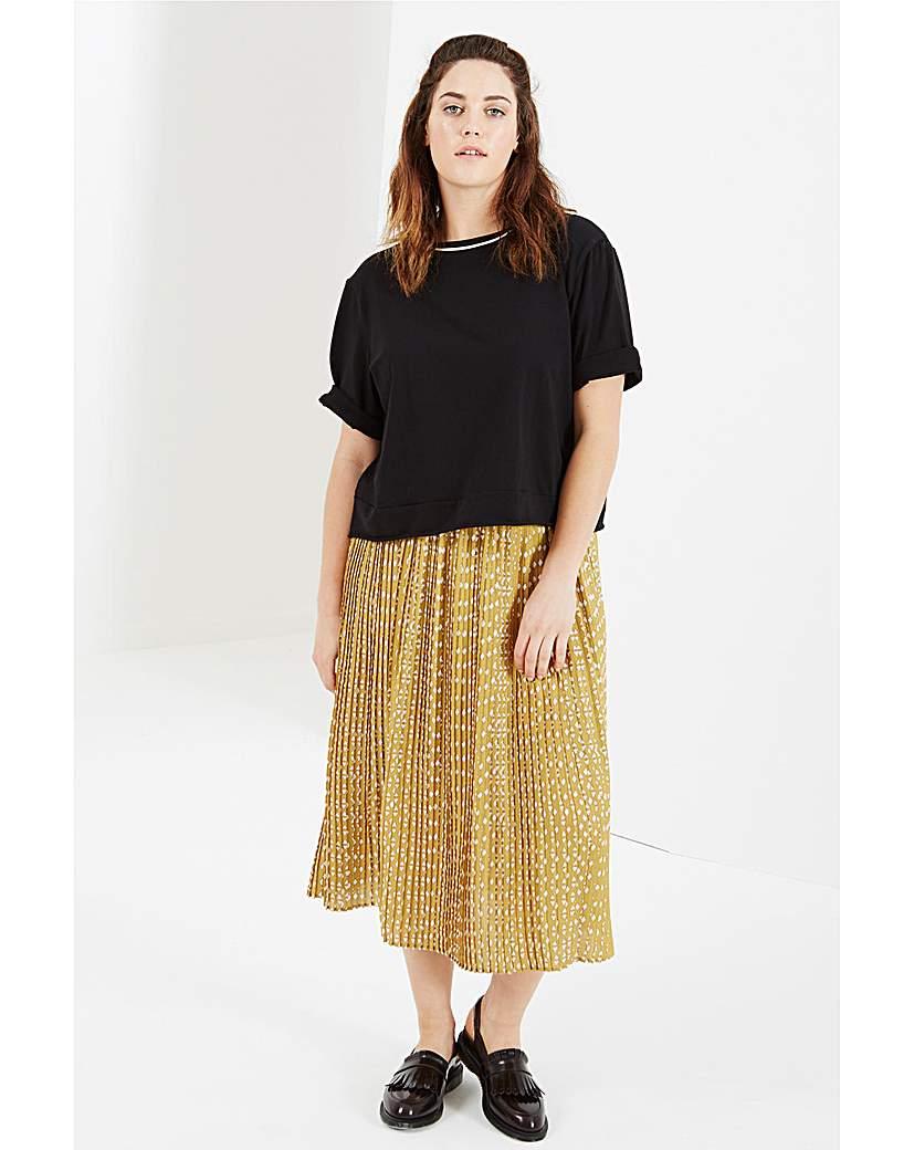 Elvi Printed Midi Skirt