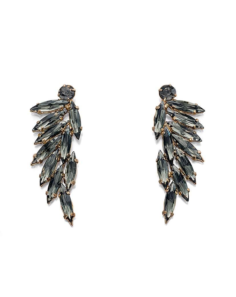 Acrylic leaf cluster earrings