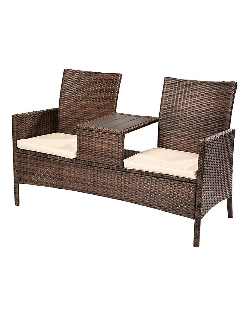 Image of Cannes Rattan Love Seat
