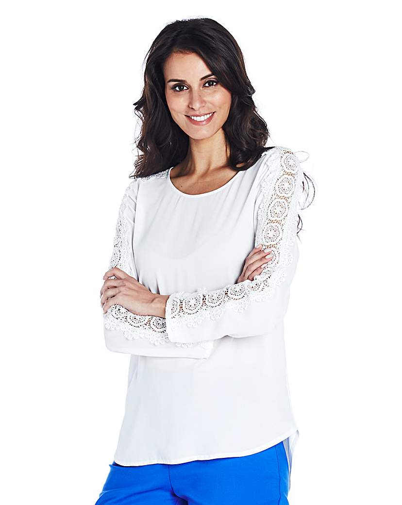 Lace Sleeve Detail Blouse