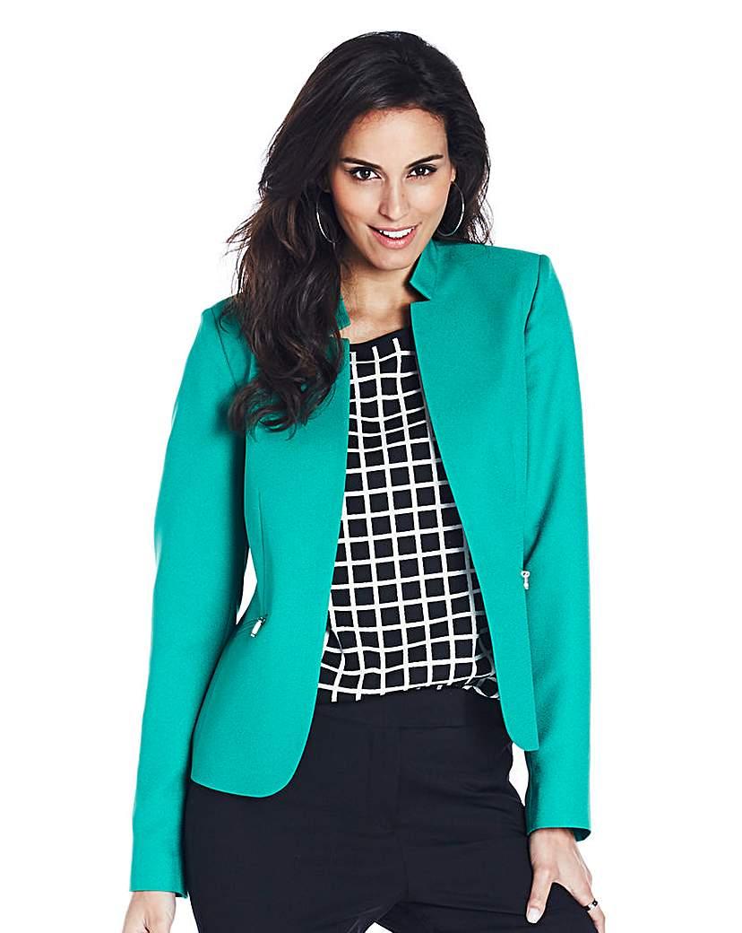 Zip Detail Tailored Jacket