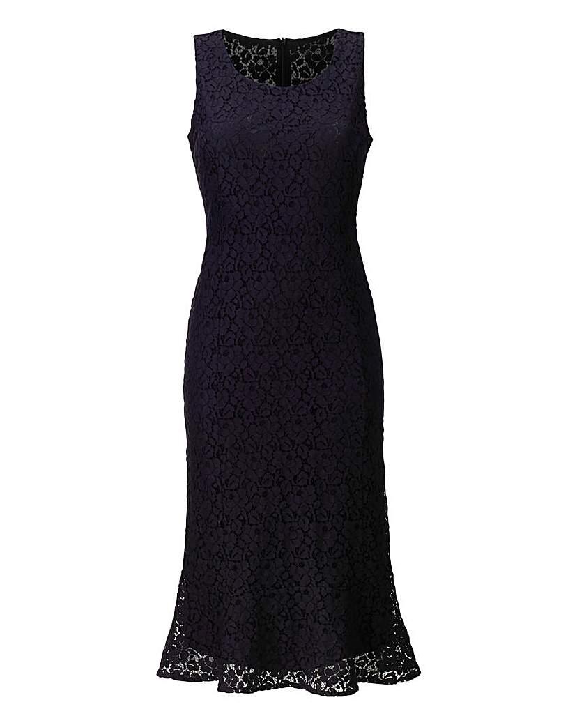 Lace Peplum Hem Dress