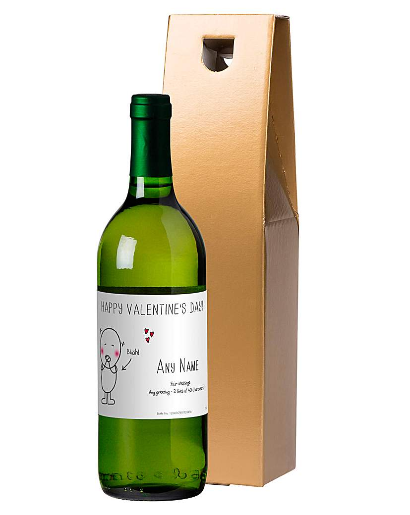 Image of Chilli & Bubbles Personalised White Wine