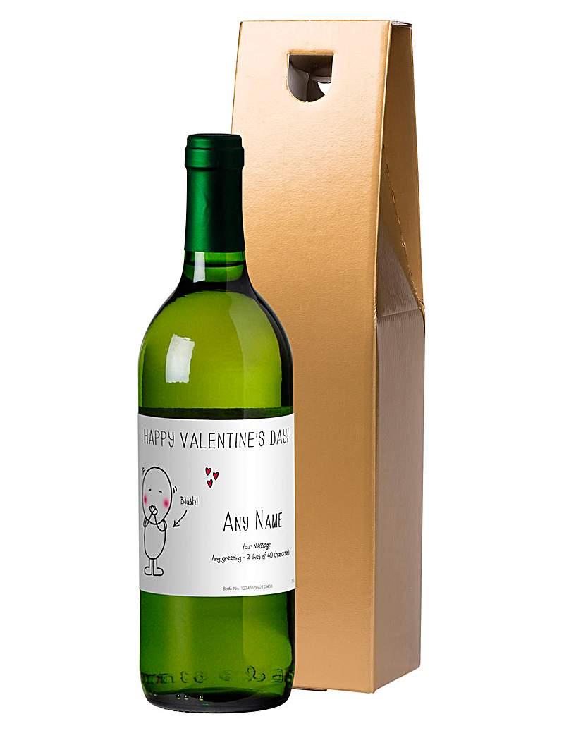 Chilli & Bubbles Personalised White Wine