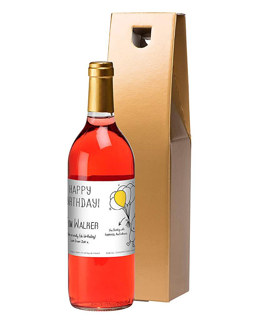 Chilli & Bubbles Personalised Rose Wine