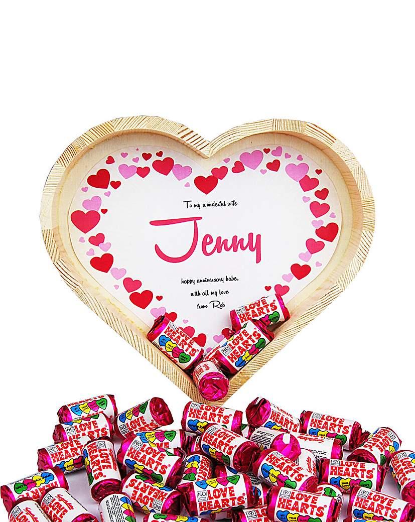 Personalised Love-Hearts Heart Tray