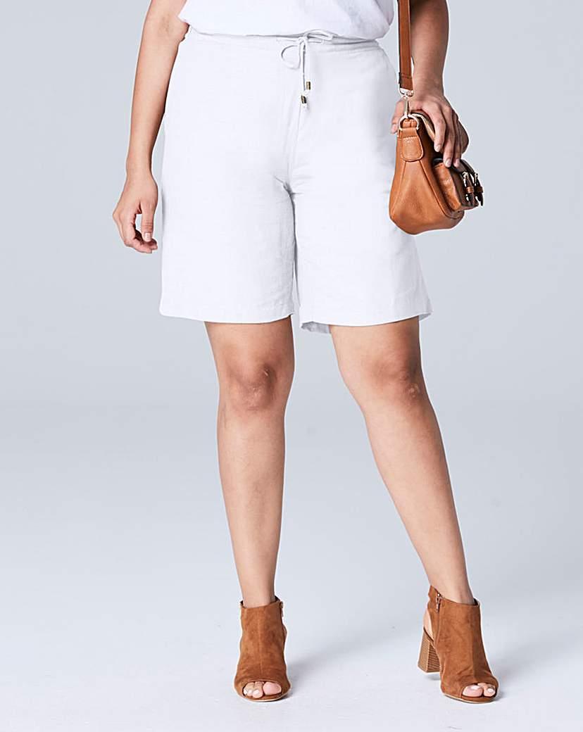 Linen Mix Shorts.