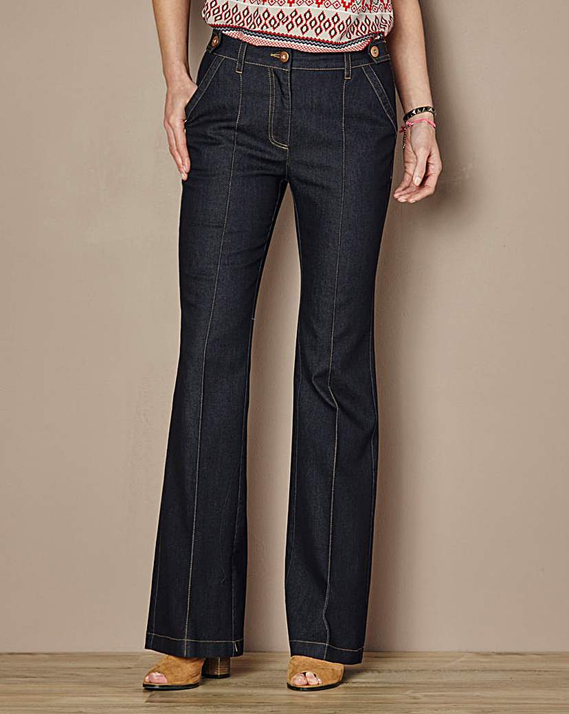 High Waisted Cotton Kick Flare Jean.