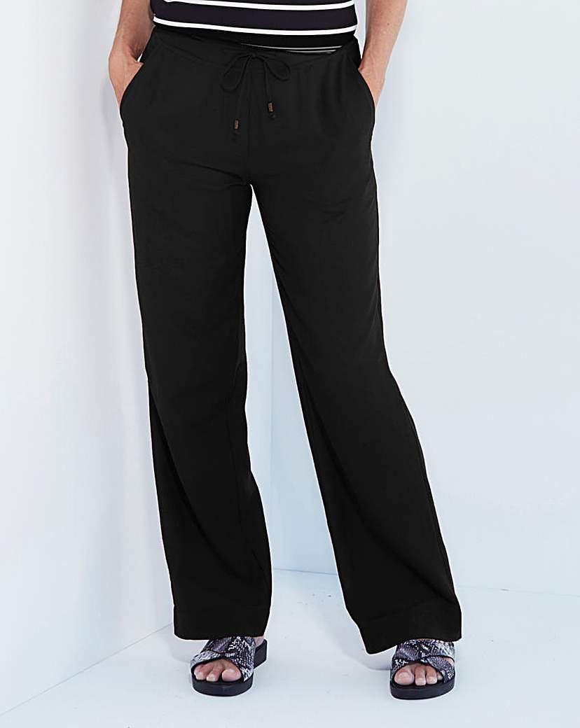 Linen Mix Trousers - Long