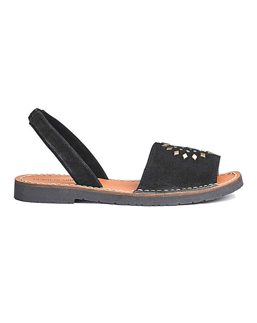 Heavenly Soles Leather Sandals EEE Fit