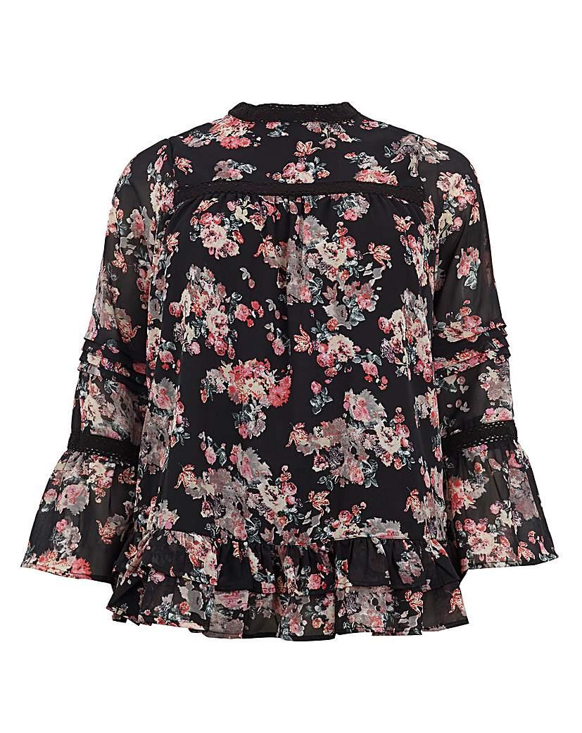 Koko Floral Print Gypsy Sleeve Tunic