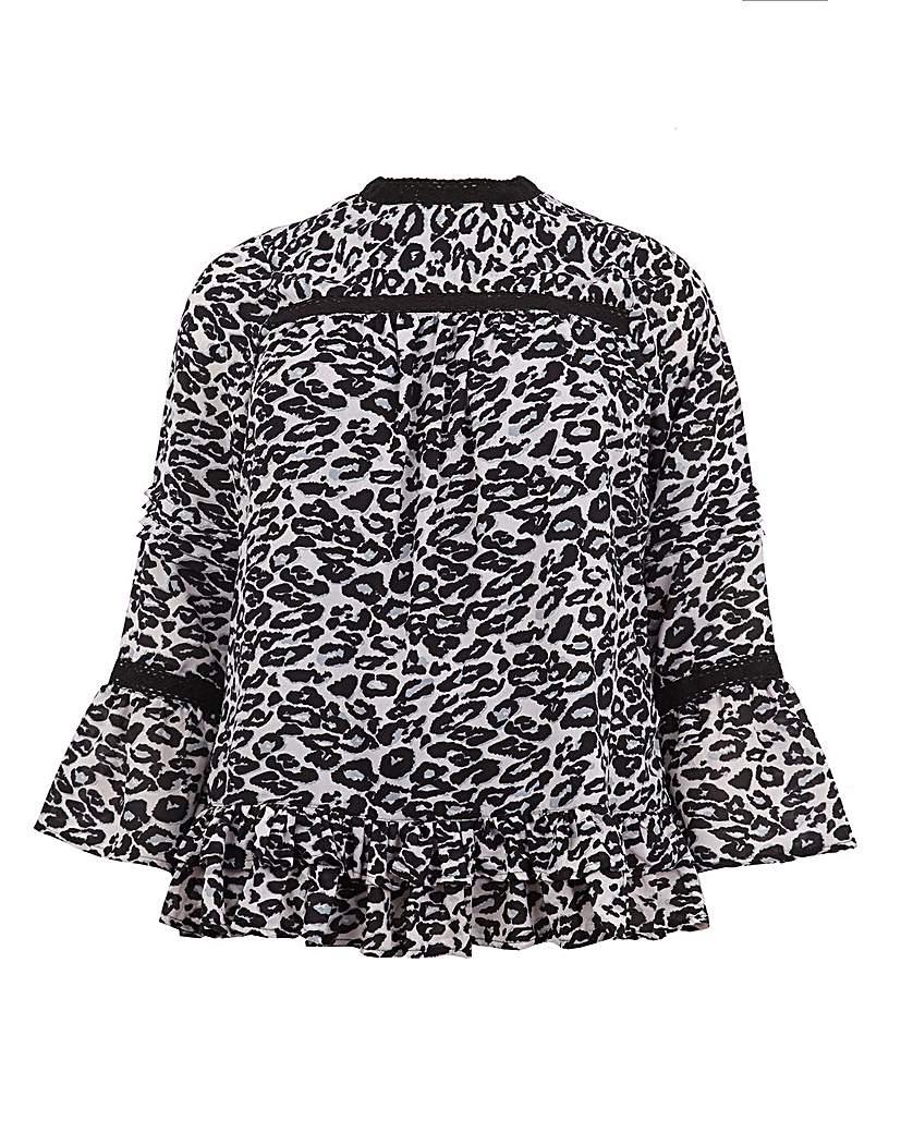 Koko Animal Print Gypsy Sleeve Tunic