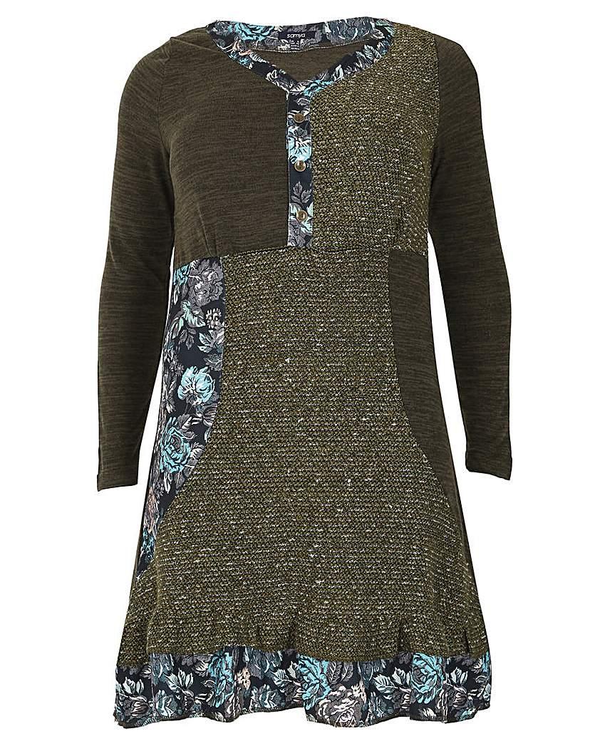 Samya Patch Work Knit Dress.