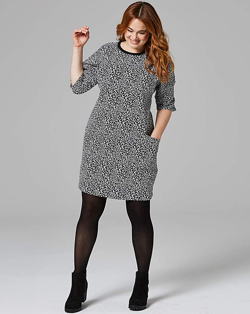 Animal Print Pocket Shift Dress