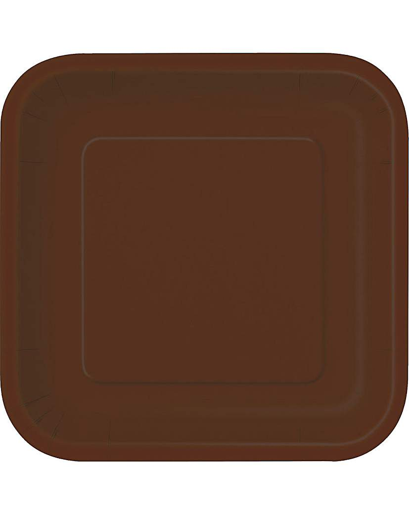 "Image of 9"" Square Paper Plates x 14"