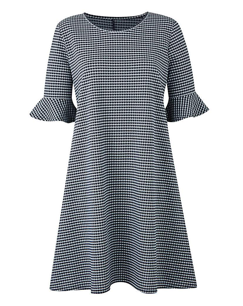 Image of Gingham Print Swing Dress