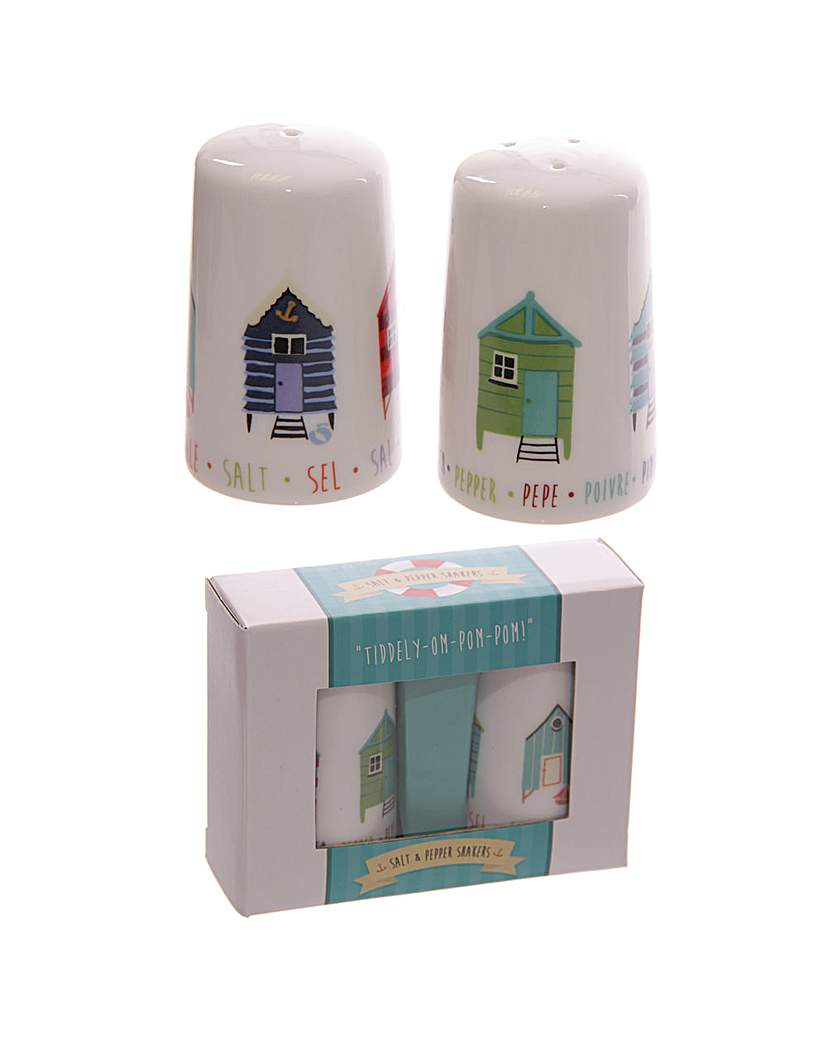 Image of Beach Hut Porcelain Salt and Pepper