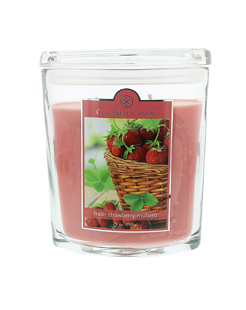 Image of Colonial Candle 25oz Strawberry Rhubarb