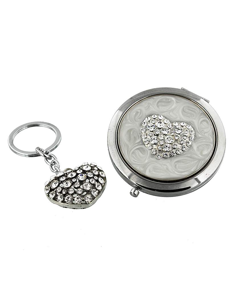 Sophia Compact Mirror And Keyring