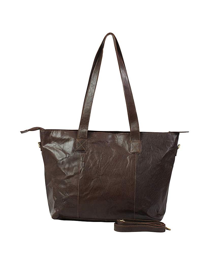 Justified Genuine Leather Shopper.