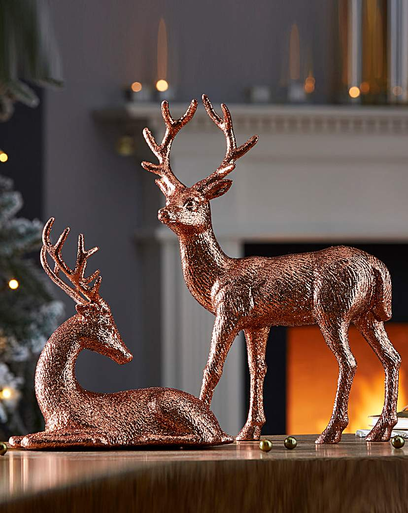 Image of Set of Two Reindeer Ornaments