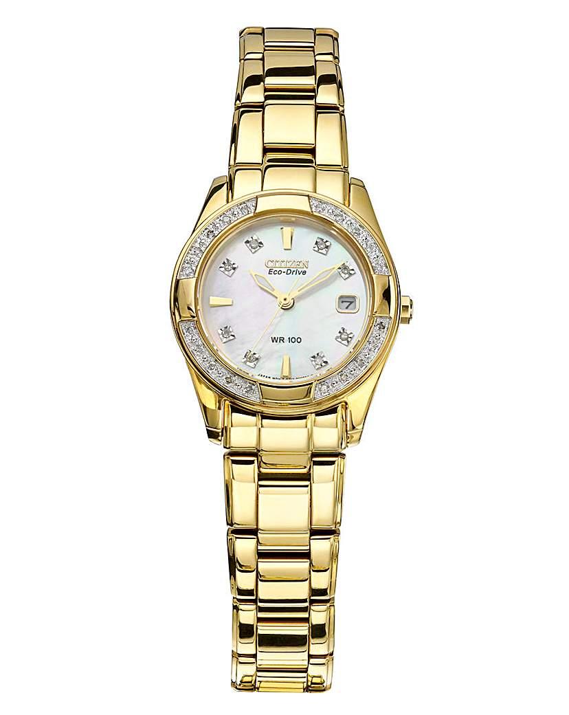Citizen Diamond-Set Bracelet Watch
