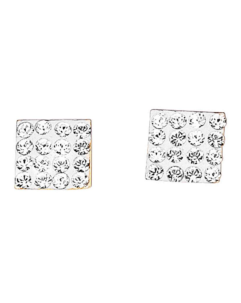 9 Carat Gold Crystal Stud Earrings