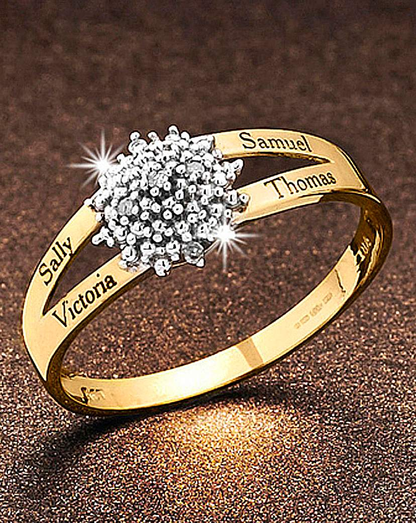 Image of Precious Sentiments Gold Cluster Ring