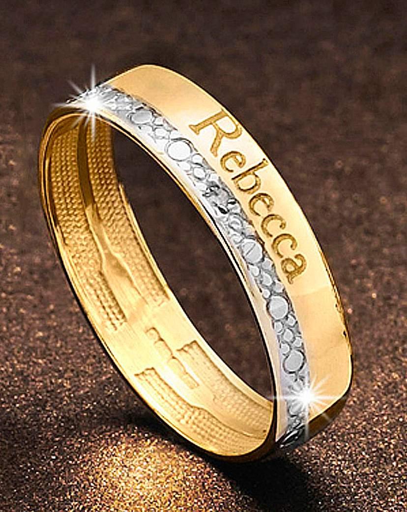 Precious Sentiments Gold Band Ring