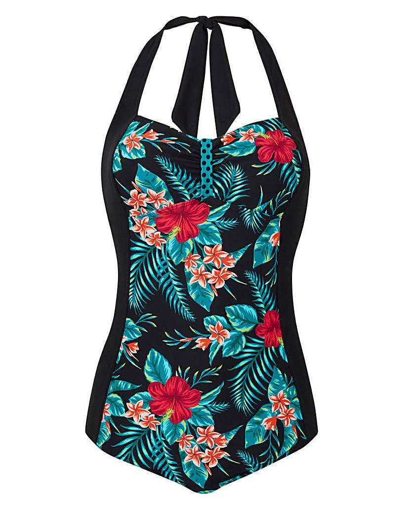 Vintage Inspired Retro Swimsuits Joe Browns Halterneck Swimsuit £36.00 AT vintagedancer.com