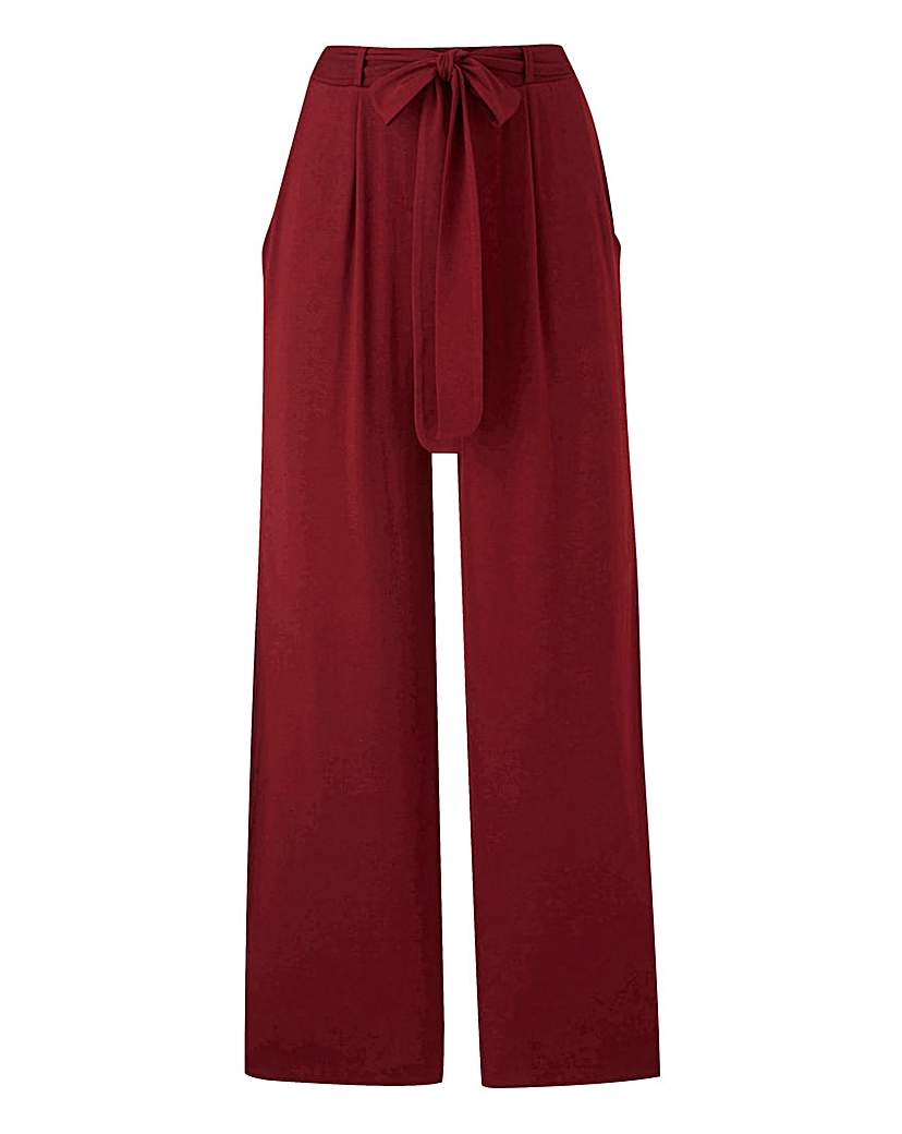 Plain Jersey Wide Leg Trousers Long.